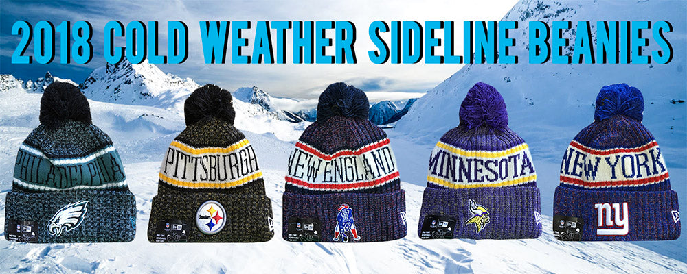 2018 NFL Cold Weather On Field Sideline Knit Beanies – Tagged