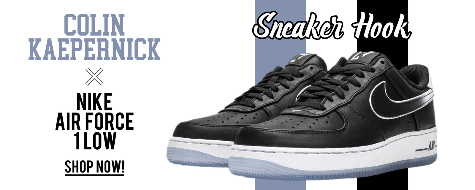 Colin Kaepernick X Nike Air Force 1 Low Sneaker Hook Up Clothing