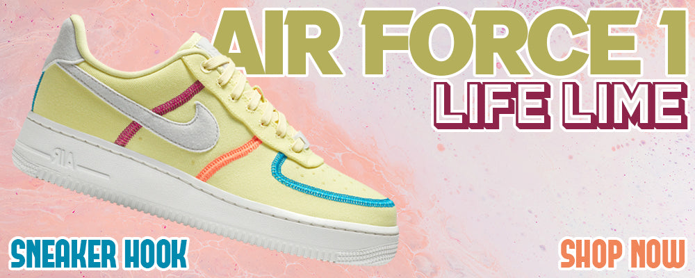 Air Force 1 Low Life Lime Clothing to match Sneakers | Clothing to match Nike Air Force 1 Low Life Lime Shoes