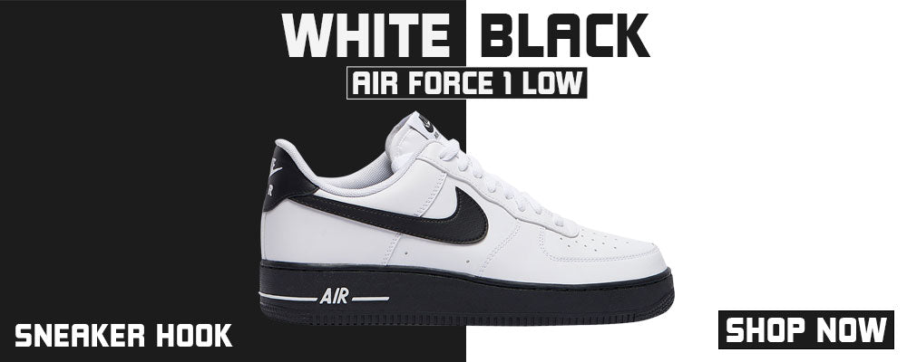 Air Force 1 Low White Black Clothing to match Sneakers | Clothing to match Nike Air Force 1 Low White Black Shoes
