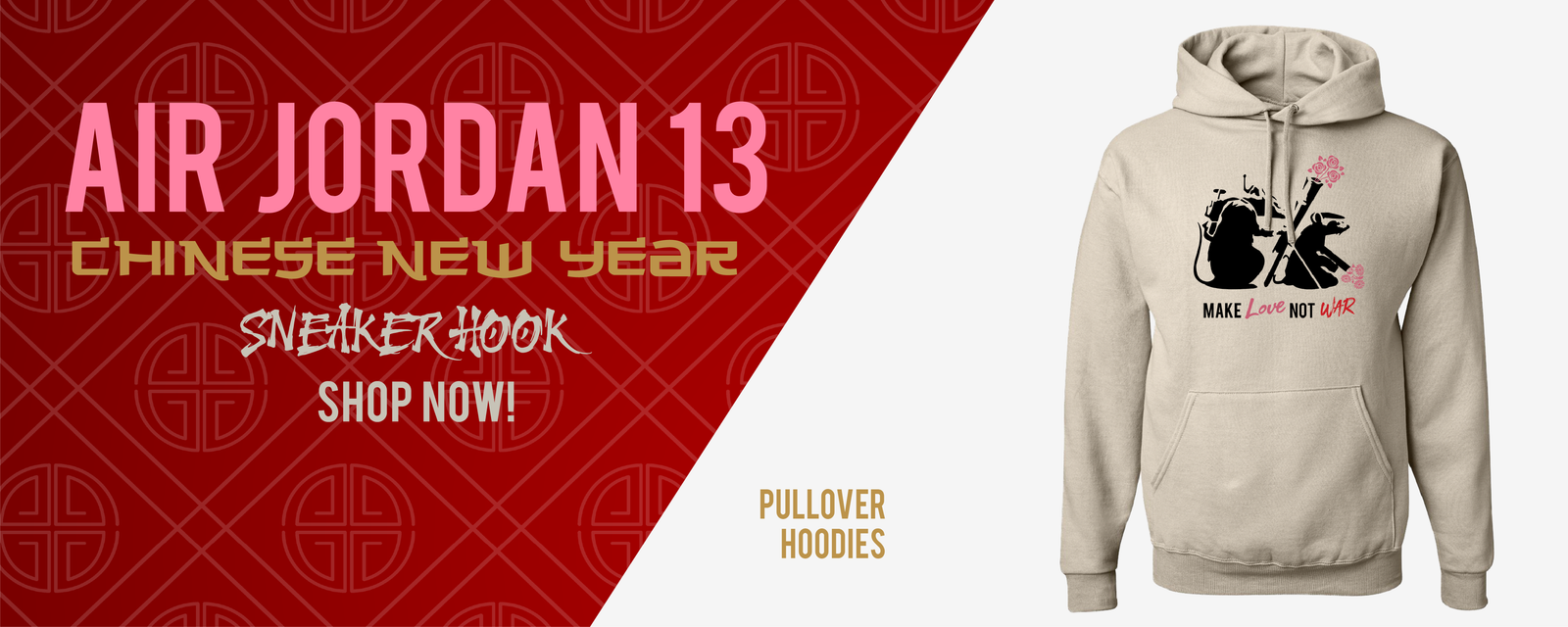 Hoodies Made to Match Air Jordan 13 Chinese New Year Sneakers