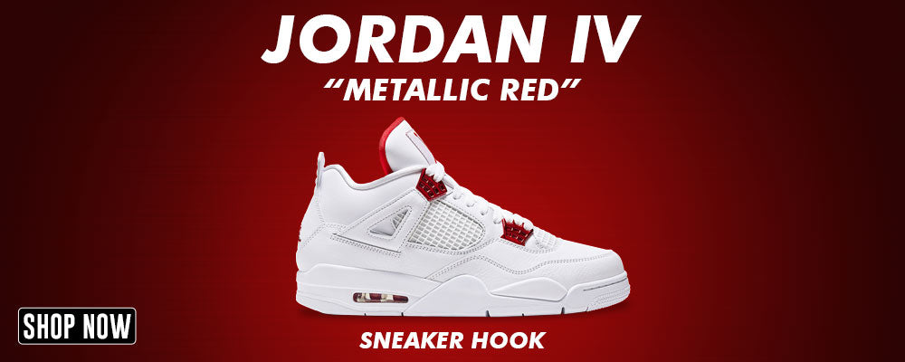 Jordan 4 Metallic Red Clothing to match Sneakers | Clothing to match Air Jordan 4 Metallic Red Shoes