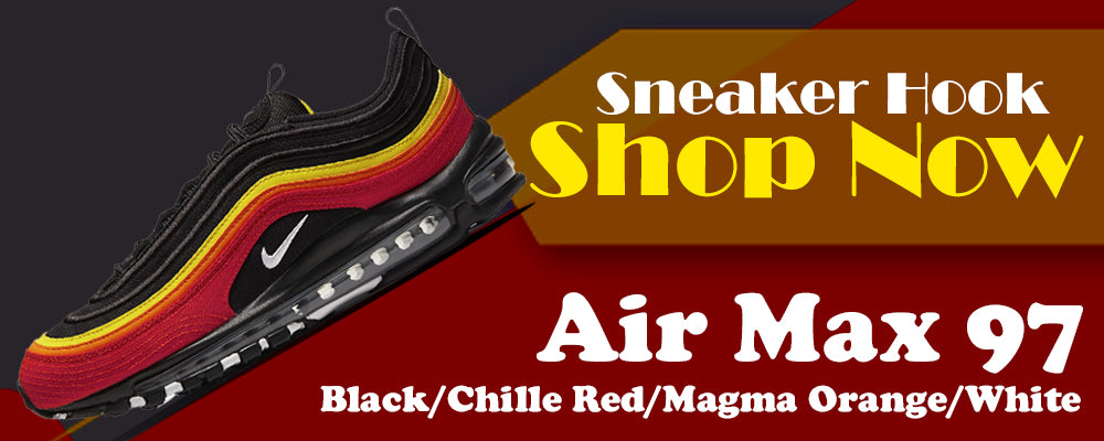 Air Max 97 Black/Chile Red/Magma Orange/White Clothing to match Sneakers | Clothing to match Nike Air Max 97 Black/Chile Red/Magma Orange/White Shoes