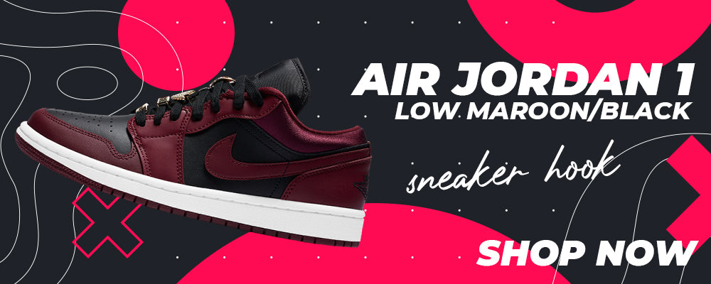 Air Jordan 1 Low Maroon / Black Clothing to match Sneakers | Clothing to match Nike Air Jordan 1 Low Maroon / Black Shoes