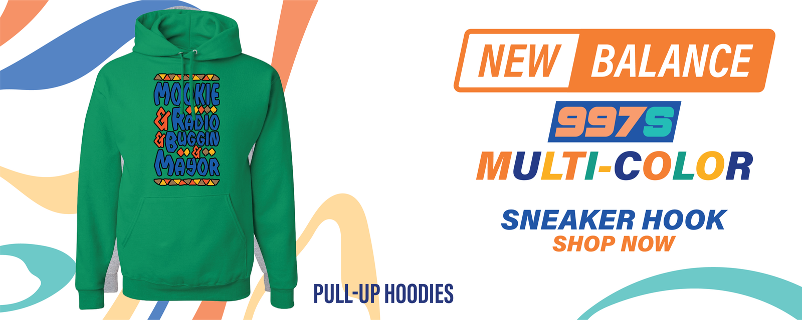 997S Multicolor Pullover Hoodies to match Sneakers | Hoodies to match New Balance 997S Multicolor Shoes