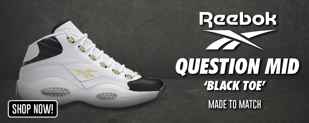 Question Mid Black Toe Clothing to match Sneakers | Clothing to match Reebok Question Mid Black Toe Shoes