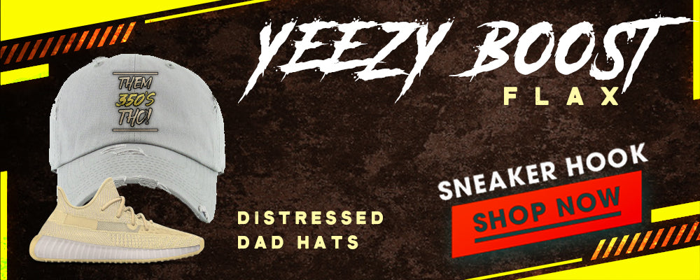 Yeezy Boost 350 V2 Flax Distressed Dad Hats to match Sneakers | Hats to match Adidas Yeezy Boost 350 V2 Flax Shoes