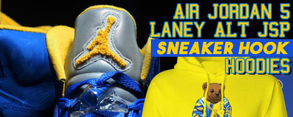 dfb258141e39 Jordan 5 Alternate Laney JSP Sneaker Matching Hoodies – Cap Swag