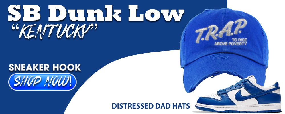 "Dunk Low ""Kentucky"" Distressed Dad Hats to match Sneakers 