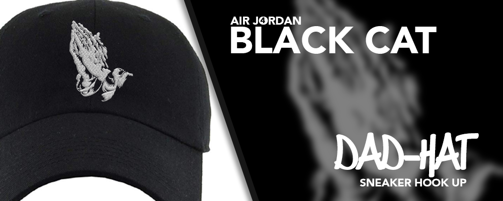 Dad Hats Made to Match Air Jordan 4 Black Cat Sneakers