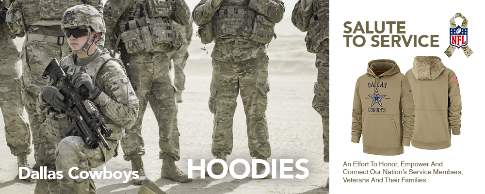 Dallas Cowboys Salute To Service Hoodies