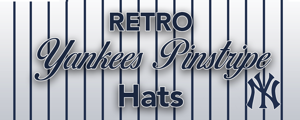 Throwback Retro New York Yankees Pinstripe Hats