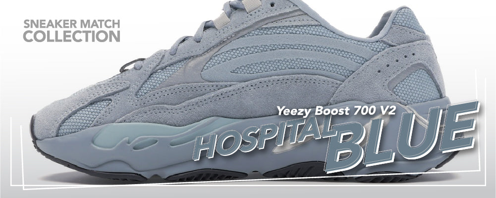Yeezy Boost 700 V2 Hospital Blue Sneaker Matching Clothing