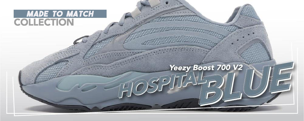 Clothing To Match Yeezy Boost 700 V2 Hospital Blue Sneakers