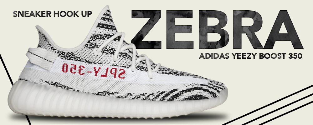 Apparels and Headwears to match Adidas Yeezy Boost 350 V2 Zebra Sneakers