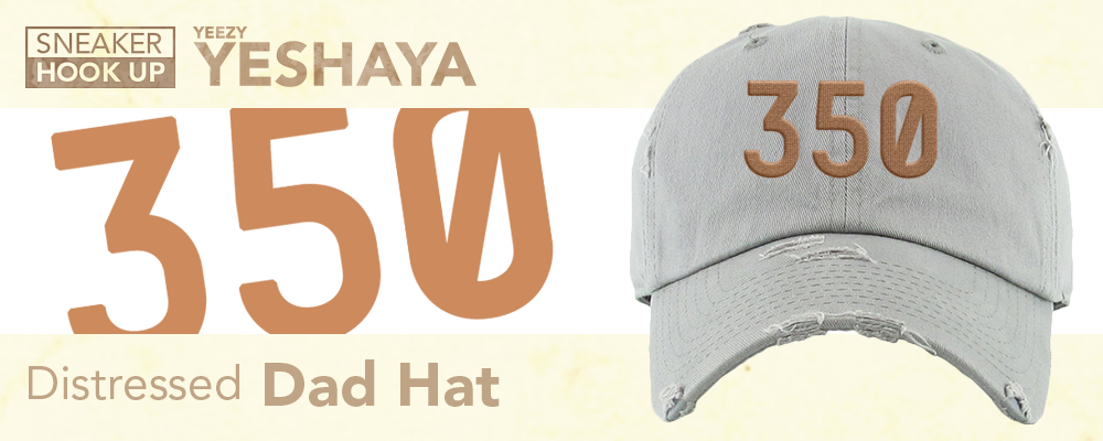 Distressed Dad Hats Made to Match Yeezy 350 V2 Yeshaya Sneakers