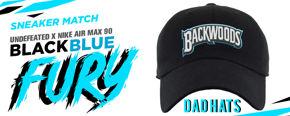 Undefeated x Nike Air Max 90 Black Blue Fury Sneaker Matching Dad Hats