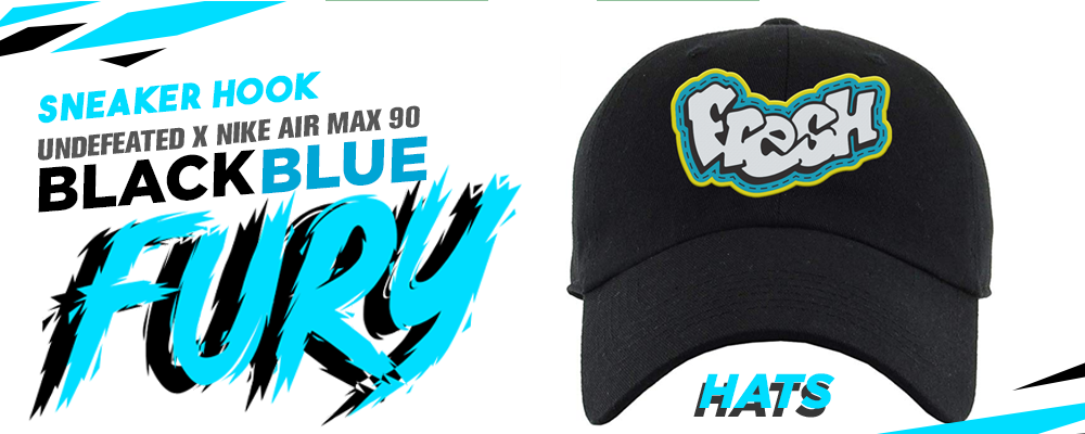 Hats To Match Undefeated x Air Max 90 Black Blue Fury sneakers