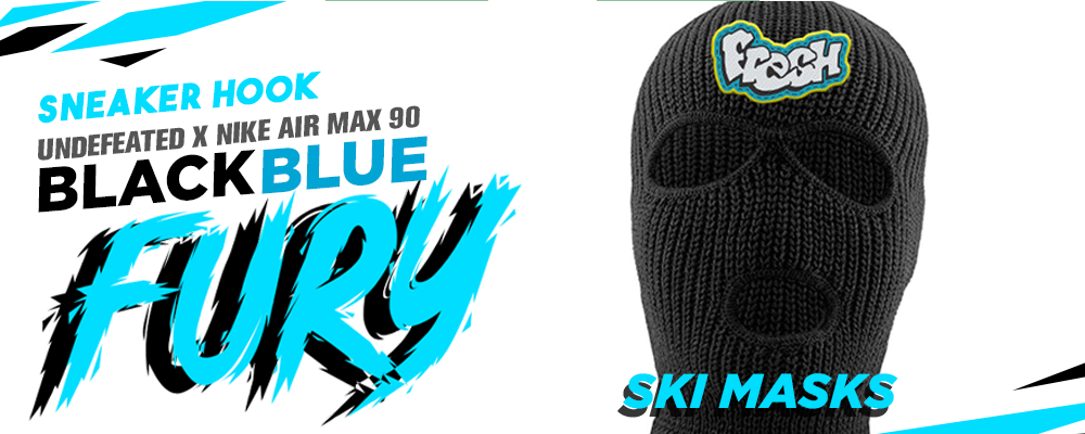 Ski Masks To Match Undefeated x Air Max 90 Black Blue Fury Sneakers