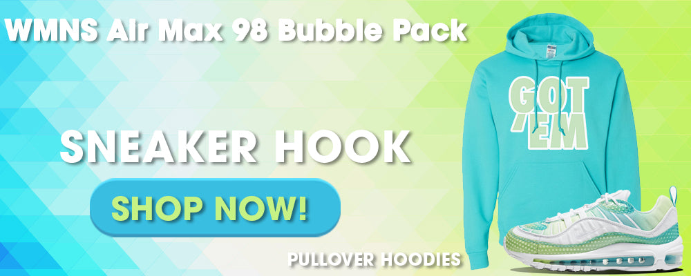 WMNS Air Max 98 Bubble Pack Pullover Hoodies to match Sneakers | Hoodies to match Nike WMNS Air Max 98 Bubble Pack Shoes
