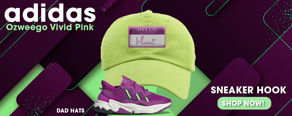 Ozweego Vivid Pink Dad Hats to match Sneakers | Hats to match Adidas Ozweego Vivid Pink Shoes