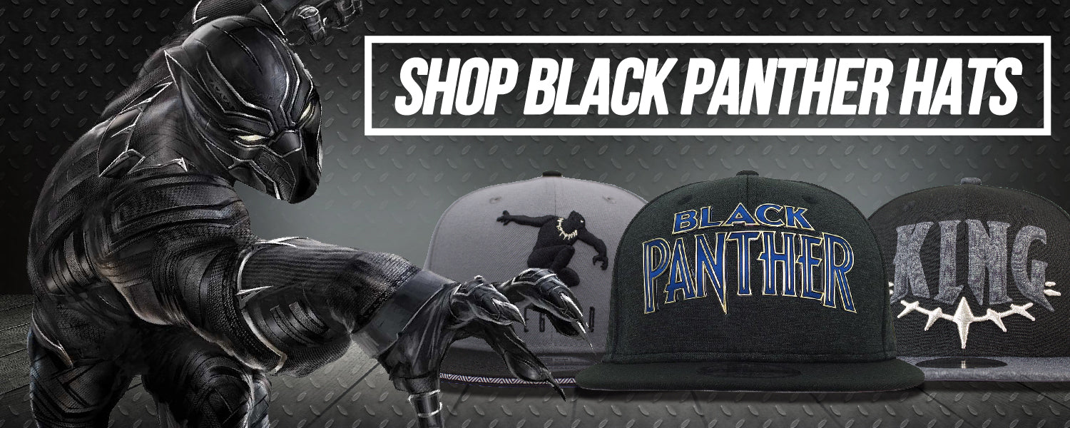 huge discount c245e b8ee9 shop all black panther hats and black panther snapback hats just in time  for the Marvel