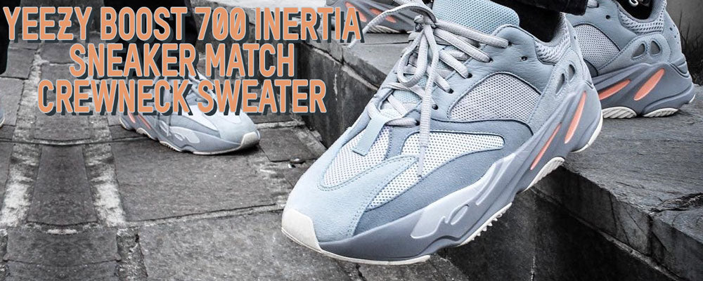 Shop sneaker matching outfits to match the Yeezy Boost 700 Inertia sneakers