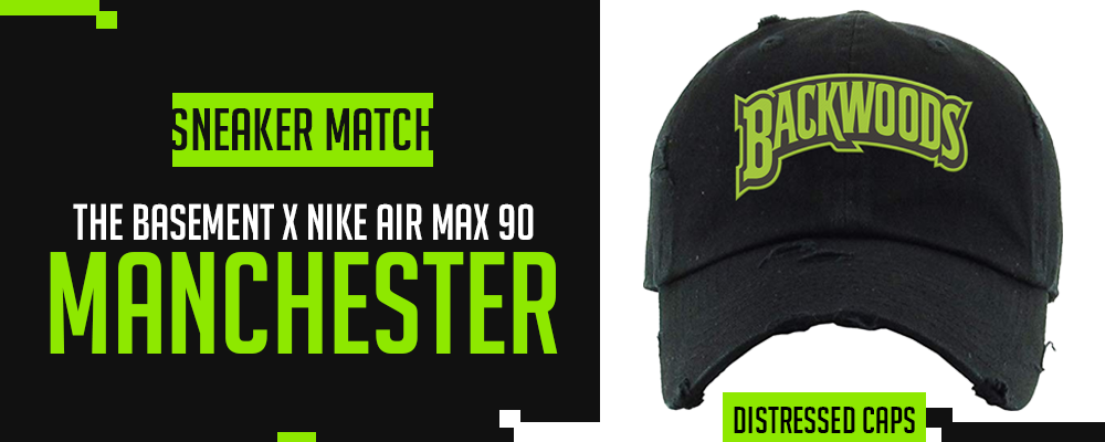The Basement x Nike Air Max 90 Manchester Sneaker Matching Distressed Dad Hats