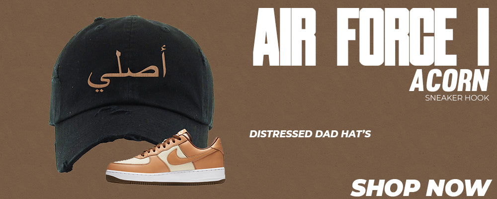 Air Force 1 Acorn Distressed Dad Hats to match Sneakers   Hats to match Nike Air Force 1 Acorn Shoes
