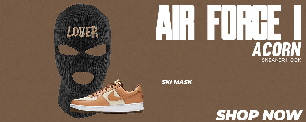 Air Force 1 Acorn Ski Masks to match Sneakers   Winter Masks to match Nike Air Force 1 Acorn Shoes