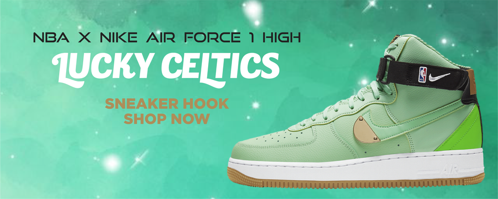 NBA x Air Force 1 High Lucky Celtics Clothing to match Sneakers | Clothing to match NBA x Nike Air Force 1 High Lucky Celtics Shoes