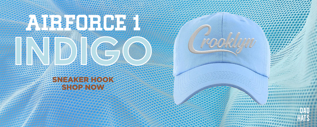 Air Force 1 Indigo Dad Hats to match Sneakers | Hats to match Nike Air Force 1 Indigo Shoes