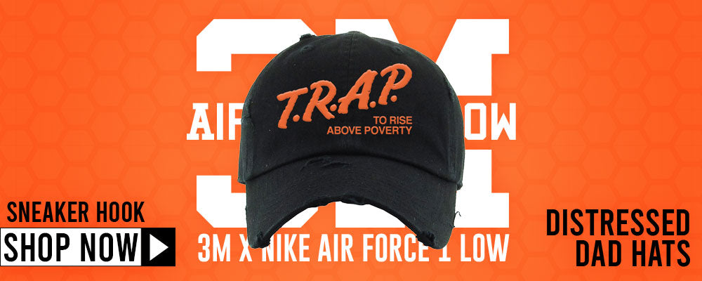 3M x Air Force 1 Low Distressed Dad Hats to match Sneakers | Hats to match 3M x Nike Air Force 1 Low Shoes
