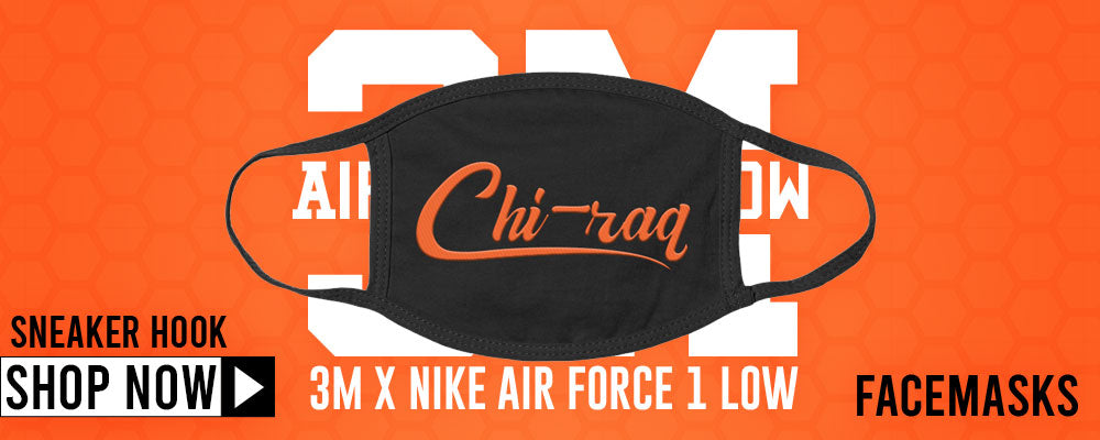 3M x Air Force 1 Low Face Mask to match Sneakers | Masks to match 3M x Nike Air Force 1 Low Shoes
