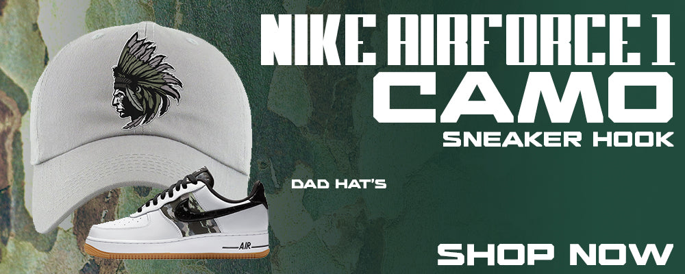 Air Force 1 Low Camo Dad Hats to match Sneakers | Hats to match Nike Air Force 1 Low Camo Shoes