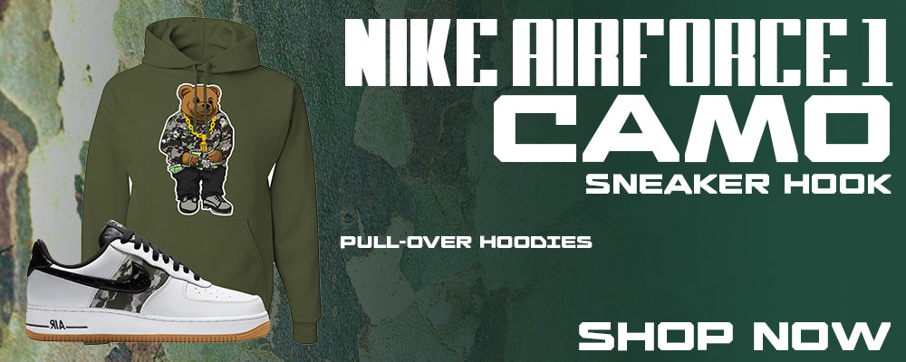 Air Force 1 Low Camo Pullover Hoodies to match Sneakers | Hoodies to match Nike Air Force 1 Low Camo Shoes