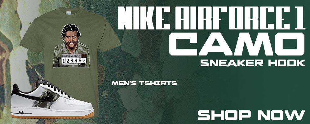 Air Force 1 Low Camo T Shirts to match Sneakers | Tees to match Nike Air Force 1 Low Camo Shoes