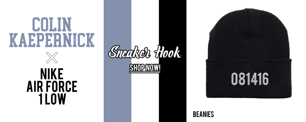 Beanies to match Colin Kaepernick x Air Force 1 Low Sneakers