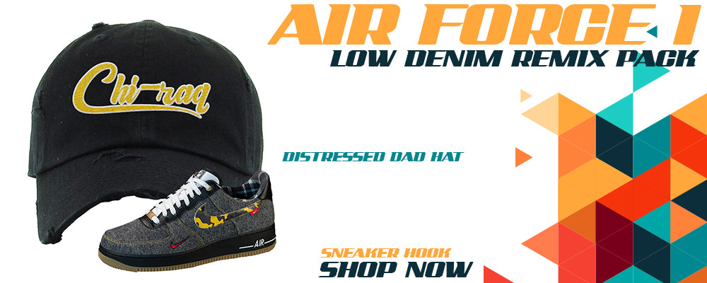 Air Force 1 Low Denim Remix Pack Distressed Dad Hats to match Sneakers   Hats to match Nike Air Force 1 Low Denim Remix Pack Shoes