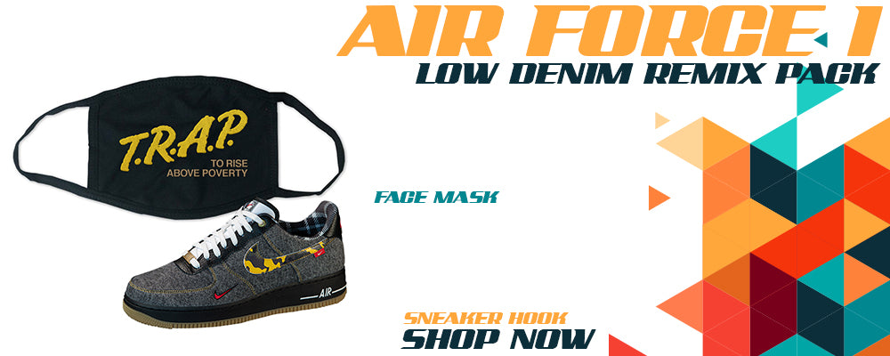 Air Force 1 Low Denim Remix Pack Face Mask to match Sneakers   Masks to match Nike Air Force 1 Low Denim Remix Pack Shoes