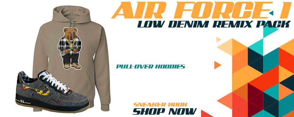 Air Force 1 Low Denim Remix Pack Pullover Hoodies to match Sneakers   Hoodies to match Nike Air Force 1 Low Denim Remix Pack Shoes