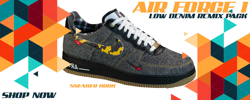 Air Force 1 Low Denim Remix Pack Clothing to match Sneakers   Clothing to match Nike Air Force 1 Low Denim Remix Pack Shoes