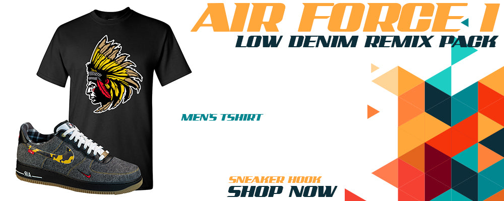 Air Force 1 Low Denim Remix Pack T Shirts to match Sneakers   Tees to match Nike Air Force 1 Low Denim Remix Pack Shoes