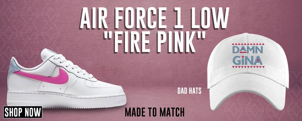 Air Force 1 Low Fire Pink Dad Hats to match Sneakers | Hats to match Nike Air Force 1 Low Fire Pink Shoes