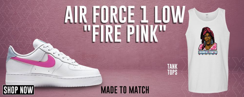 Air Force 1 Low Fire Pink Tank Tops to match Sneakers | Tanks to match Nike Air Force 1 Low Fire Pink Shoes