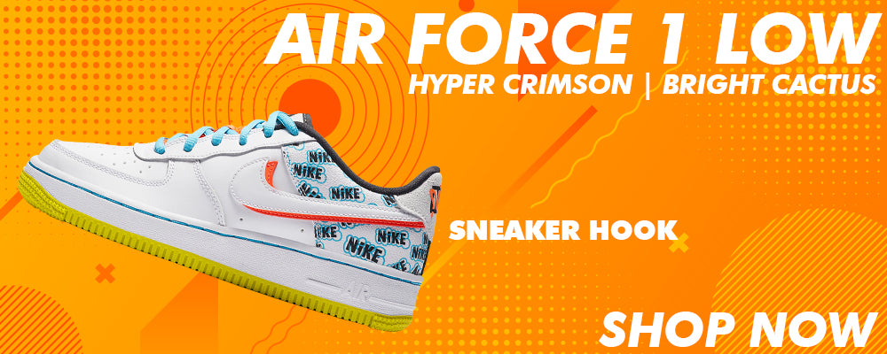 Air Force 1 Low GS Hyper Crimson / Bright Cactus Clothing to match Sneakers | Clothing to match Nike Air Force 1 Low GS Hyper Crimson / Bright Cactus Shoes