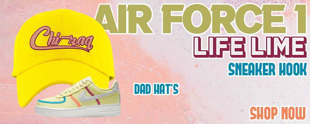 Air Force 1 Low Life Lime Dad Hats to match Sneakers | Hats to match Nike Air Force 1 Low Life Lime Shoes