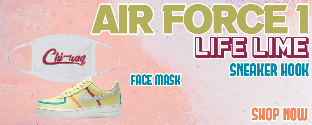 Air Force 1 Low Life Lime Face Mask to match Sneakers | Masks to match Nike Air Force 1 Low Life Lime Shoes