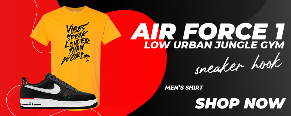 Air Force 1 Low Urban Jungle Gym T Shirts to match Sneakers   Tees to match Nike Air Force 1 Low Urban Jungle Gym Shoes