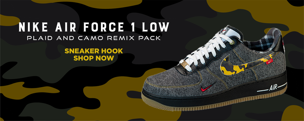 Air Force 1 Low Plaid And Camo Remix Pack Clothing to match Sneakers | Clothing to match Nike Air Force 1 Low Plaid And Camo Remix Pack Shoes